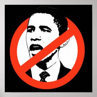 Ningún poster/personalizar de Obama su texto Póster