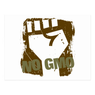 NINGÚN puño de GMO Tarjetas Postales