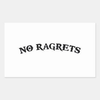Ningún Ragrets Mispelled lamenta el tatuaje Pegatina Rectangular