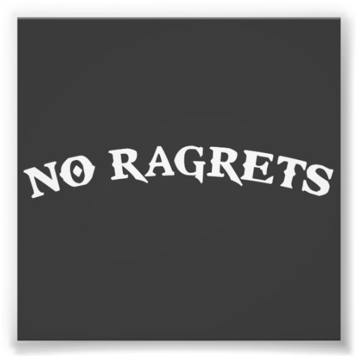 Ningún Ragrets Mispelled lamenta el tatuaje Arte Fotográfico