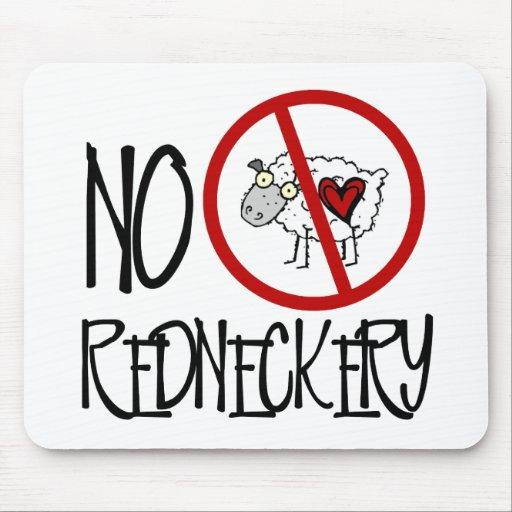 ¡Ningún Redneckery! Ovejas divertidas del campesin Alfombrillas De Raton