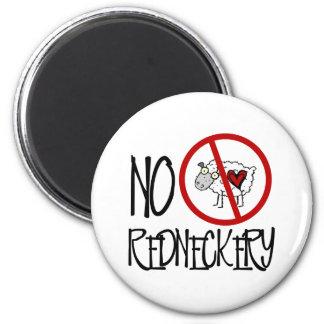 ¡Ningún Redneckery! Ovejas divertidas del campesin Imán Redondo 5 Cm