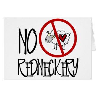 ¡Ningún Redneckery! Ovejas divertidas del campesin Tarjeta De Felicitación