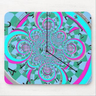 Ningún reloj del arte del tiempo por Sharles Tapete De Raton