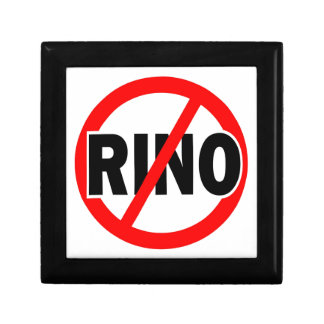 NINGÚN RINO - republicano/conservador/neocon/liber Cajas De Recuerdo