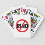 NINGÚN RINO - republicano/conservador/neocon/liber Baraja Cartas De Poker