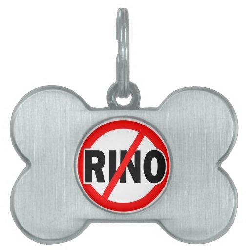 NINGÚN RINO - republicano/conservador/neocon/liber Placa Mascota