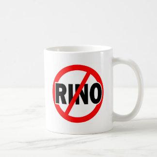 NINGÚN RINO - republicano/conservador/neocon/liber Tazas De Café