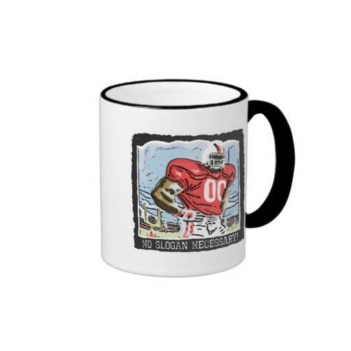 Ningún rojo necesario del lema taza de café
