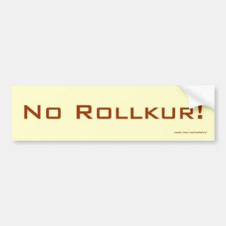 ¡Ningún Rollkur! Pegatina para el parachoques Pegatina Para Auto