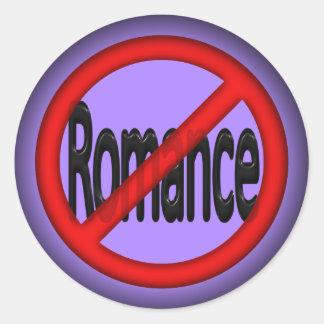 Ningún romance pegatina redonda