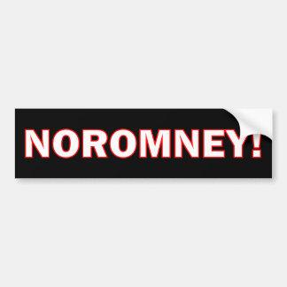 Ningún Romney Etiqueta De Parachoque