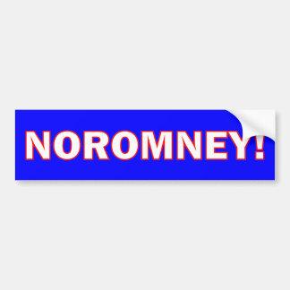 Ningún Romney Pegatina De Parachoque