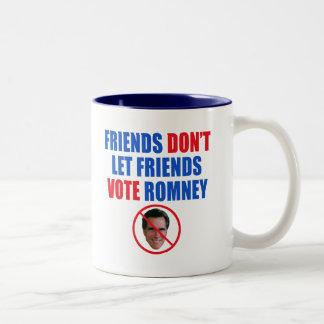 Ningún Romney Taza De Dos Tonos