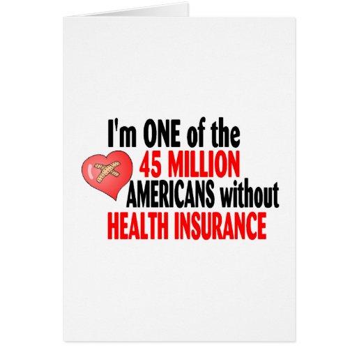 Ningún seguro médico tarjeta de felicitación