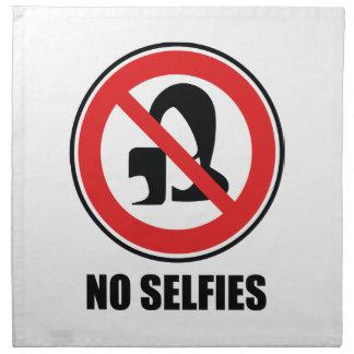 Ningún Selfies Servilletas De Papel