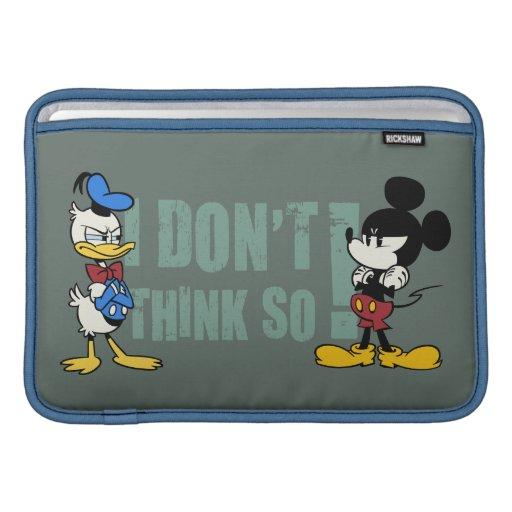 Ningún servicio el   Mickey y Donald Funda Para Macbook Air