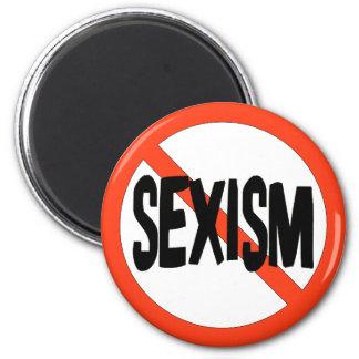 Ningún sexismo imán redondo 5 cm