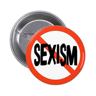 Ningún sexismo pin