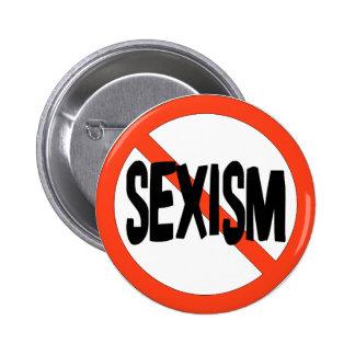 Ningún sexismo pin redondo de 2 pulgadas