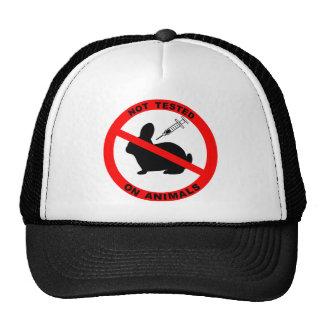 Ningún símbolo de los ensayos con animales gorras de camionero