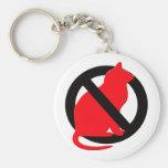 Ningún símbolo de los gatos llaveros personalizados