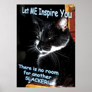 Ningún sitio para el poster inspirado felino de
