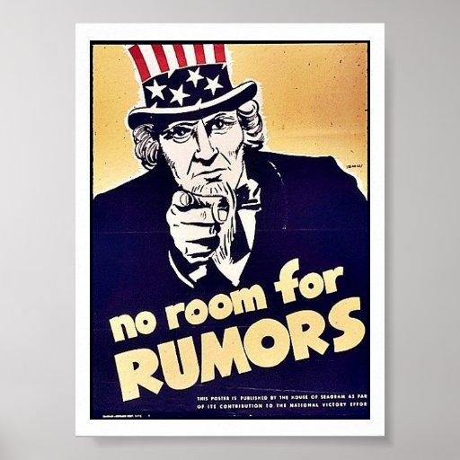 Ningún sitio para las rumores poster