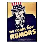 Ningún sitio para las rumores tarjetas postales