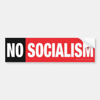 ¡NINGÚN SOCIALISMO BLACK RED PEGATINA DE PARACHOQUE