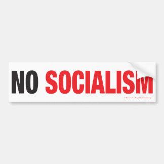 ¡NINGÚN SOCIALISMO PEGATINA DE PARACHOQUE