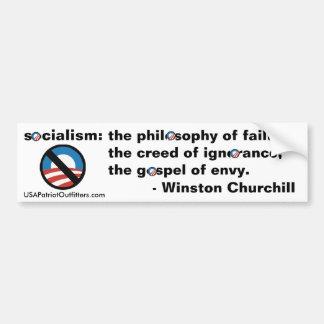 Ningún socialismo - definición 1,0 de Winston Chur Etiqueta De Parachoque