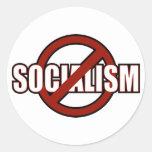 Ningún socialismo etiquetas redondas