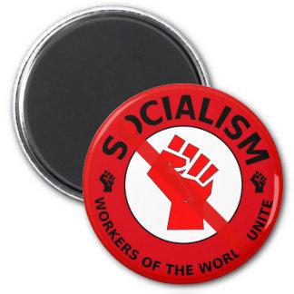 ¡Ningún socialismo! Imán Redondo 5 Cm