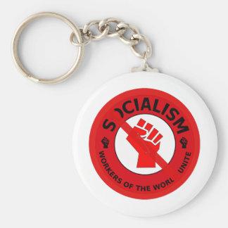 ¡Ningún socialismo! Llavero Redondo Tipo Pin