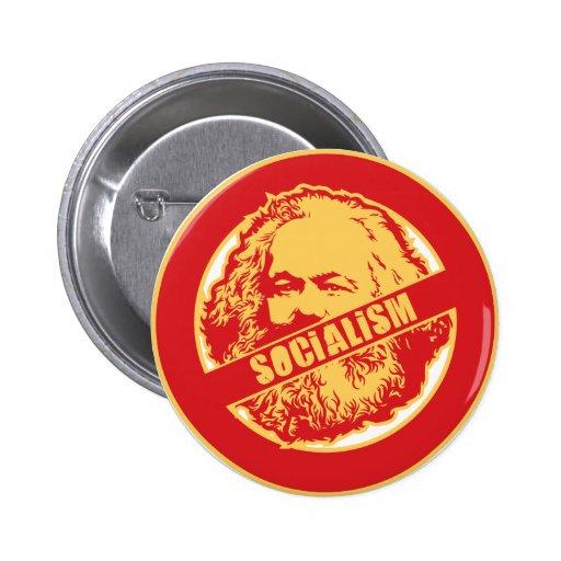 Ningún socialismo pin redondo 5 cm