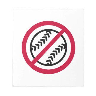 Ningún softball bloc de notas