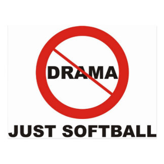 Ningún softball del drama apenas postal