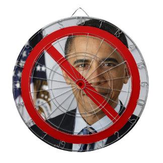 Ningún tablero de dardo de Obama