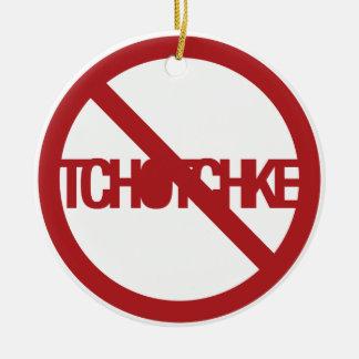 Ningún Tchotchke Adorno Redondo De Cerámica