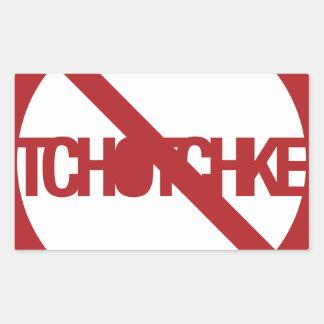 Ningún Tchotchke Pegatina Rectangular