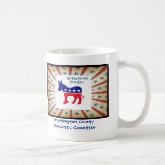 Ningún té para mí - voto Demócrata 2 Taza Básica Blanca