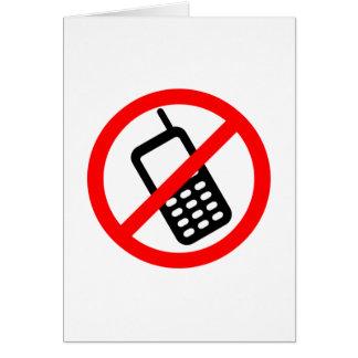 Ningún teléfono celular tarjeta pequeña