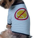 Ningún tenis camisetas mascota