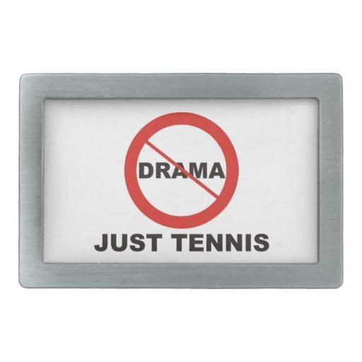 Ningún tenis del drama apenas hebilla de cinturón