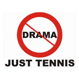 Ningún tenis del drama apenas postales