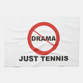 Ningún tenis del drama apenas toallas de cocina