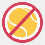Ningún tenis pegatina redonda