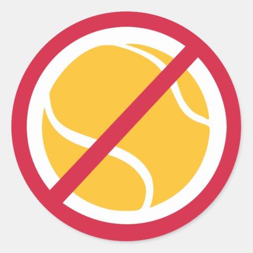 Ningún tenis pegatinas redondas