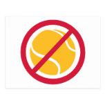 Ningún tenis tarjeta postal